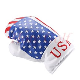 Wholesale Usa Drivers - Free shipping new flag 1PC golf Boxing gloves Driver head covers for golf Driver wood England  Canada  USA