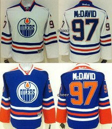 2017 Wholesale Edmonton Oilers  97 mcdavid white Blue Kid Jersey Ice Hockey  jerseys Top Quality Hot sale Cheap d131463a2