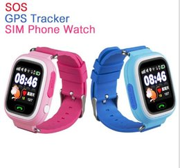 Wholesale Free Gps Monitoring - Q90 GPS smart baby watch with Wifi touch screen SOS Call Location DeviceTracker for Kid Safe Anti-Lost Monitor with free shipping