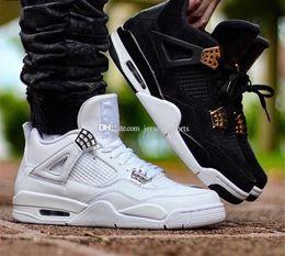 best toro bravo basketball shoes  - 2017 Top Quality Cheap New Retro 4 Men Basketball Shoes 4s White Cement Toro Bravo 4s Superman Bred Thunder Sports Shoes for men Size 8-13