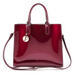 Wholesale Glossy Handbags - Brand Glossy Big Tote women bags High Quality Women's PU Leather Handbags Letter Shoulder Crossbody Bag Messenger Bags