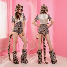 Wholesale Leopard Costume Cheap - Cheap Sexy Halloween Costumes New 2016 Fantasias Femininas Adult Leopard Cosplays Jumpsuit Sexy Women Animal Costume