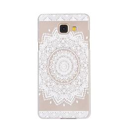 Wholesale Wholesale Case Piercing - For Samsung A310 A510 A710 J510 A3 A5 A7 J5 2016 Case Pierced White Floral Cases transparent Hollow out Sun Flowers PC cover