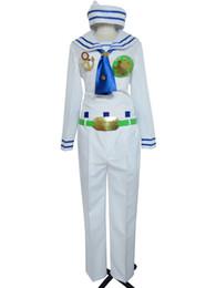 Wholesale Sailor White Uniform - Jojo's Bizarre Adventure Josuke Higashikata Halloween White Sailor Uniform Cosplay Costume