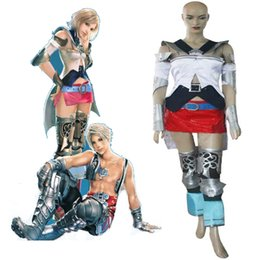 Wholesale Women S Dresses Size 12 - HOT Anime Final Fantasy XII 12 Ashe Cosplay Costume Sexy Women Role-playing Holloween Cos Dress Free Ship Custom Made