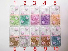 Wholesale Silicone Butterfly Iphone Cases - For Apple Iphone 6s Plus Butterfly Gold Foil Bling Paillette Sequin Soft Silicone Cover Case For iPhone 5 5S SE 6s Plus