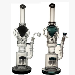Wholesale Ufo Oil Rig - Straight tube bongs dab rig bong heady water pipe glass pipe Alien hitman vortex recycler oil rigs UFO shower perc bubbler hookahs