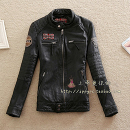 Wholesale Leather Jackets Lambskin Sheepskin - Wholesale-2016 Hot Lambskin Biker Jacket For Lovers Genuine Leather Jacket For Women And Men Unisex Natural Sheepskin Leather Motor Jacket