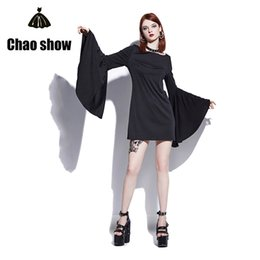 Wholesale T Shirt Mini Skirt - 2017 New Style loose and comfortable Fashion trends Wide sleeves skirt Mini skirt Ball party Autumn dress Gothic dressLong T-shirt skirt