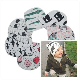 Wholesale Beanie Kids Clothes - INS Baby Hats Newborn Caps Boys Girls Cotton Cartoon Animal Hat Children Beanies Cap Kids Halloween Christmas Accessories Clothes Free