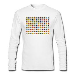 Wholesale Color Collage - Simple design mens t shirt white cotton printed tees for boy daily casual wear clothes soft skin care fabric Collage Color Study