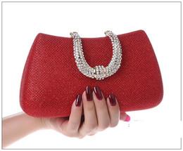 Wholesale Evening Satin Clutch Bag - 17cm rhinestone evening bags fashion lady glittering party bags purses woman lady diamond handbags 7 colors hot sale