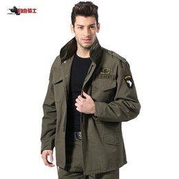Wholesale White Hunting Clothes - Wholesale- FREEKNIGHT Outdoor Hiking M65 Coat Jacket Coat Male Fans Removable Liner Winter Cotton Hunting Tactical Clothes