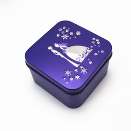 Wholesale Wedding Bride House Decoration - Purple candy box favor bride groom wed favor box tins for candy gift favor party decoration