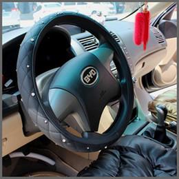 2019 velhas rodas de direção do carro Auto suprimentos carro volante capa pai volante tampa de strass refires camurça capa de diamante