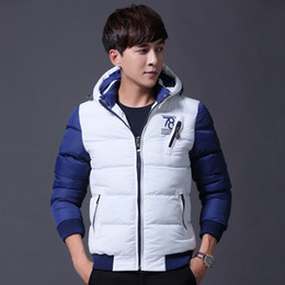 Wholesale Types Korean Men Fashion - Winter Men's Cotton Short Type Thicken Jacket Korean Youth Slim Down Cotton Men Coats Jackets