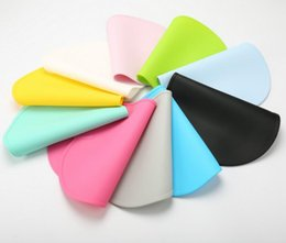 Wholesale Baby Silicone Placemat - 47*27cm Waterproof Silicone Placemat Bar Mat Baby Kids Cloud Shaped Plate Mat Table Mat Set Home Kitchen Pads