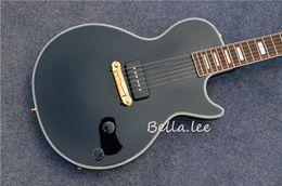 Guitarra de ébano de china online-Guitarra clásica de encargo al por mayor del color negro eléctrica con el diapasón del ébano, hecho en China
