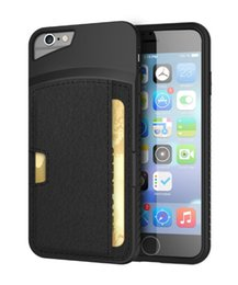 Wholesale Iphone Leather Faux - iPhone 6 Holder Card Slot Case, Faux Leather Ultra Slim Dual Layers Shockproof Cover Protective Shell for Apple iPhone 6 6s