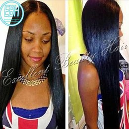 Wholesale Wig Long Straight Hair 34 - Human brazilian hair glueless lace front wigs human hair full lace wig with baby middle side part straight lace wigs free shipping