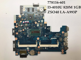 Wholesale Laptop 14 I3 - 778116-601 FOR HP 14-R 240 G3 Laptop Motherboard ZSO40 LA-A993P I3-4010U 820M 1GB 100% Fully Tested&Free shipping