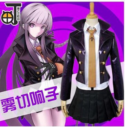 Wholesale Dangan Ronpa Cosplay - Wholesale-game Danganronpa cosplay Dangan Ronpa Kirigiri Kyouko cosplay costume for girls women Halloween party costumes