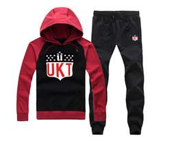 Wholesale Fleece Suit Jacket - Unkut sweat suit Sports Hoodie Pants Suit Male Printed Sports Male Hooded Jacket Mens Hoodies and Sweatshirt + Pants