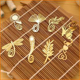 2019 marcadores de papel mariposa Marcador de metal, mariposas de plumas de la vendimia Marcador de plumas, clip de papel para notas de la marca de libro 8 tipos disponibles marcadores de papel mariposa baratos