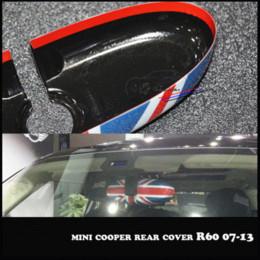 Wholesale Film Unions - For Mini Cooper Countryman R55 R56 R57 R60 R61 Interior Rear view Mirror Cover Shell Accessories Stickers Union Jack Checker