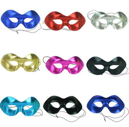 Wholesale party eye mask red black - men upper half face ball mask women celebration masquerade eye masks costume party fancy dress mask prom carnival shows props