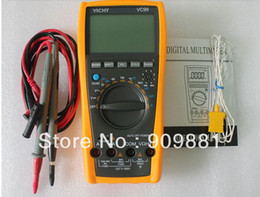 Wholesale Vichy Vc99 Multimeter - Vichy VC99 3 6 7 Auto Range Digital Multimeter With Bag Count AC DC Ohm Hz Better FLUKE 17B 2000uF FreeShipping