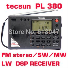 Wholesale Tecsun Radio Digital Portable - Tecsun PL-380 PL380 radio Digital PLL Portable Radio FM Stereo LW SW MW DSP Receiver very good