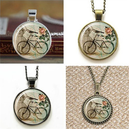 Wholesale vintage style art - 10pcs Bicycle Hipster Vintage Style Bike Art Pendant Necklace keyring bookmark cufflink earring bracelet