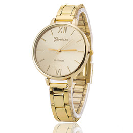 Wholesale Everyday Women Dresses - New Stainless Steel Geneva Watch Rose Gold Everyday Bracelet Watch Fashion Luxury Women Dress Watch Relogio Feminino BW1362