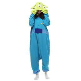 Wholesale Full Alien Costume - Japen Kigurumi Pajamas Adult Alien Sleepwear Cosplay Christmas Halloween Costume Gift Present Onesies Party Jumpsuit