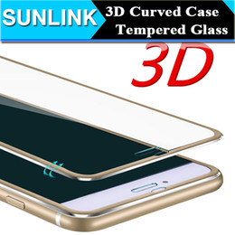 Wholesale Iphone Accessories Aluminum - 3D Curved Aluminum Alloy Tempered Glass Case For iPhone 7 6 6S plus Mobile phone Accessories Front Full Screen Coverage Cover Retail Package