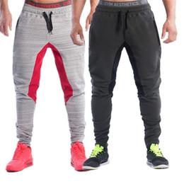 Wholesale Thin Waist Men - Wholesale-Men's Fitness Pants Sweatpants Men Fitness Facilities Aesthetics Ban sportswear for Runners Grey Clothing Thin Running
