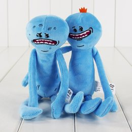 Wholesale Movies Figures - 25cm 2 Styles Rick and Morty Happy&sad Plush Toy Soft Stuffed Doll Toy for kids gift toy free shipping retail