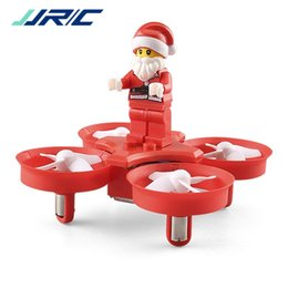 Wholesale Flying Rc Toys - JJRC H67 Flying Santa Claus RC Helicopter 2.4G 4CH 6Axis 716 Coreless Motor Headless Mode Toy Brick RC Quadcopter 2117010