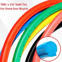 Wholesale Tires Bikes - Wholesale-Freeshipping Fixed Gear Bicycle Solid Tire Inflation Free Solid Tyre for Road Bike 700C x 23C
