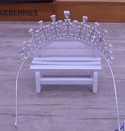 Wholesale Crowns Tiara S - luxury micro Mosaic zircon crown bride 's Hair accessories Act the role ofing is tasted wedding accessories gifts