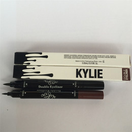 Wholesale Water Gels Colors - Kylie liquid eyeliner Brown and Black 2 in 1 gel eyeliner High quality Free Shipping High Quality Hot
