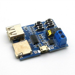 Wholesale Audio Boards - Free shipping 1PCS Top Quality TF card U disk MP3 Format decoder board module amplifier decoding audio Player