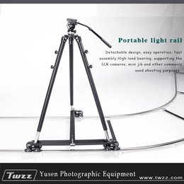 Wholesale Dslr Slide - Twzz Camera 6m Movie Dolly Track With Tripod Dolly Video Slide For Movie Photography DSLR Combination free shipping