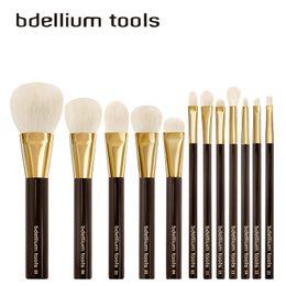 Wholesale High Quality Makeup Brushes Set - bdellium tools TomFord-Like brush Set - 12pcs Gold-Colored High Quality Goat Hair - Beauty Makeup Brushes Blender