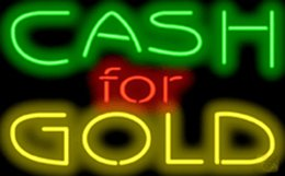 """Wholesale Place Jewelry - Cash For Gold Neon Sign Custom Handcrafted Real Glass Neon Light Company Store Shop Jewelry Buy Pay Money Advertising Display Sign 16""""x10"""""""