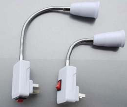 Wholesale light socket power adapter - New Arrive US AU plug AC Power Supply Adapter to E27 Bulbs Socket Adapter Halogen Adjustment Flexible Table Light   with On OFF Switch