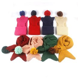 Wholesale Girl Scarf White Crochet - 2017 Cldren mermaid scarf knitti ng scarf mermaid tail sc arf crochet scarf warm scarf Christmas 117 * 15 cm