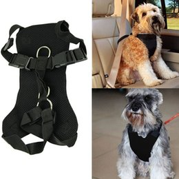 Wholesale Cartoon Harness - Pet Vehicle Safety Harness Padded Liner Mesh Vest Adjustable Car Seat Belt Harness for Dog or Cat