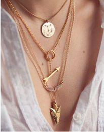 Wholesale Fashion Jewelry Multi Layered Chains - Hot Sale Women Fashion Necklaces Lady Multi-layered Necklace Girl Multi-layered Necklaces Big Girl Jewelry Popular Multi Layer Necklace